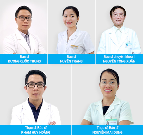 Đội ngũ bác sĩ tại Phòng khám da liễu Hà Nội