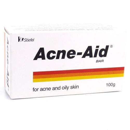 Bánh xà bông Acne – Aid Bar dùng cho những trường hợp bị mụn trứng cá và da nhờn.