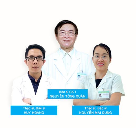 Đội ngũ y bác sĩ tại phòng khám da liễu Hà Nội